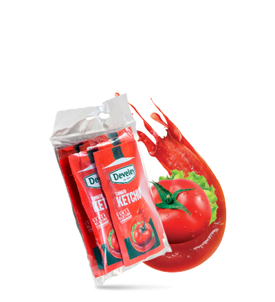 ketchup monodose six-pack Develey