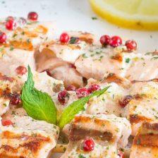 spiedini salmone pepe rosa