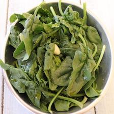 spinaci per il ripieno dei cannelloni