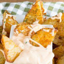 patate dipper alla paprika e cheddar