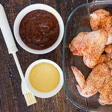pollo spennellato con miele e salsa barbecue