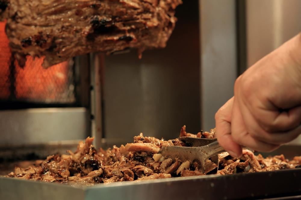 kebab appena tagliato