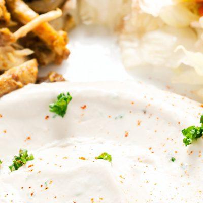 Salsa per kebab bianca
