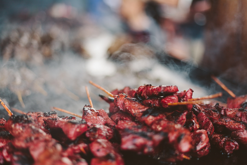 Spiedini di carne, street food