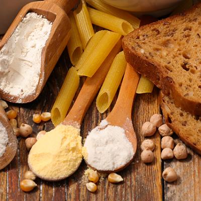 farina e pane con glutine