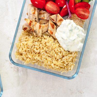pranzo al sacco con salsa allo yogurt