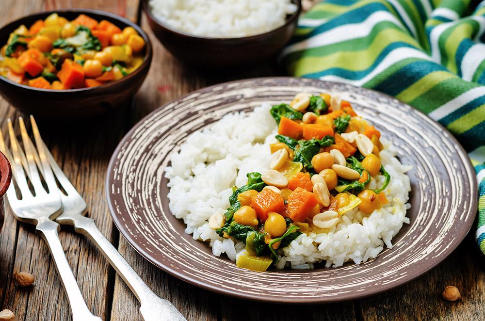riso con salsa al curry
