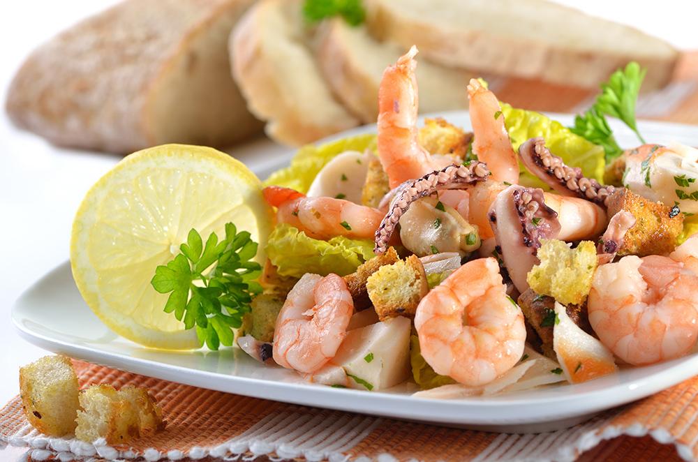 condimenti per insalata di mare