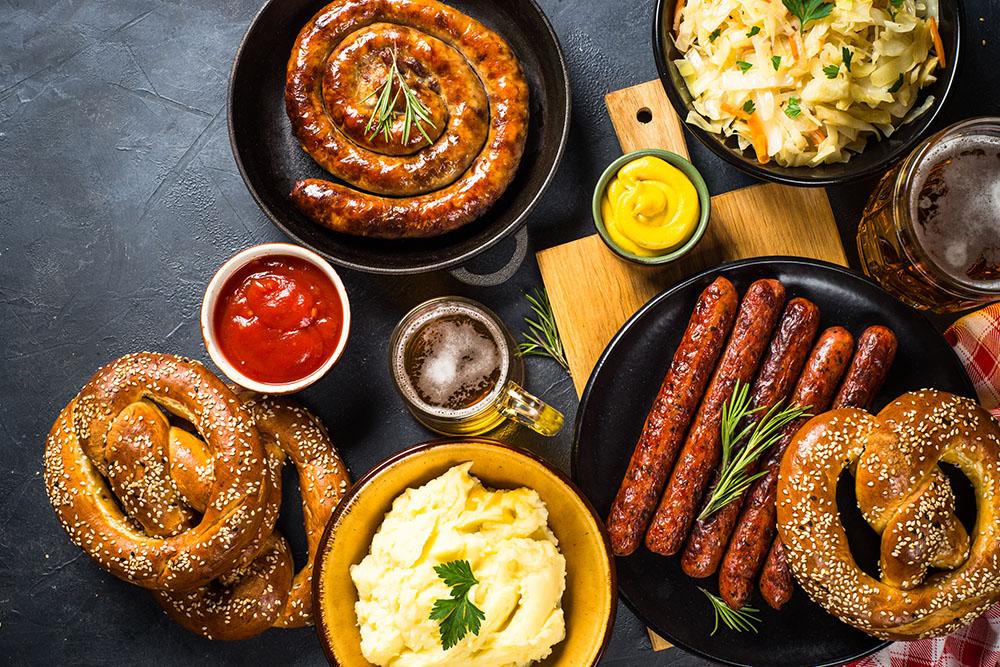 piatti e salse tipiche della germania