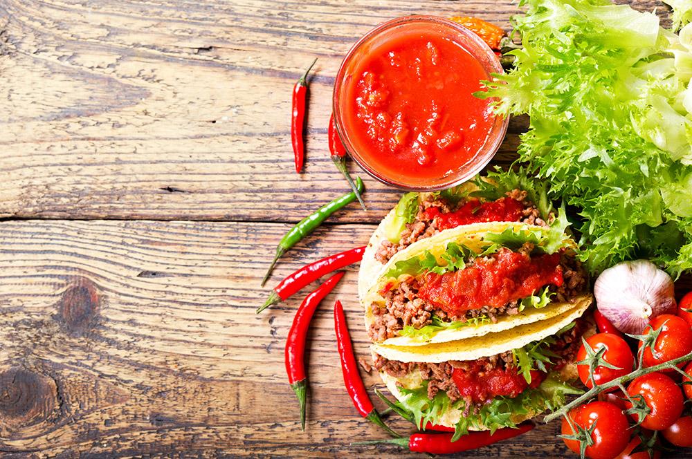 salsa piccante per tacos