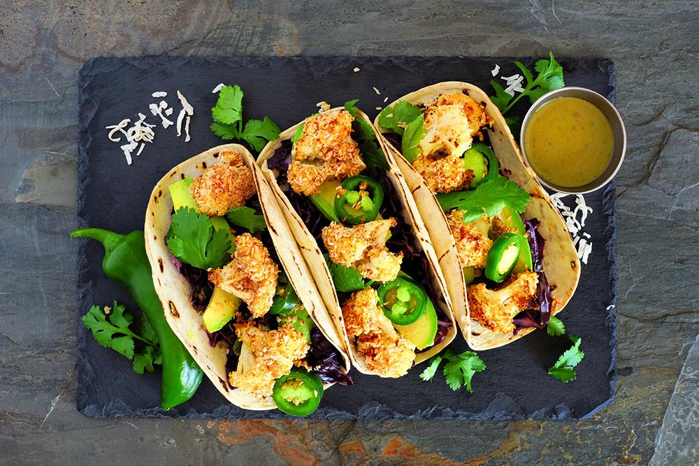 tacos piccanti con salsa