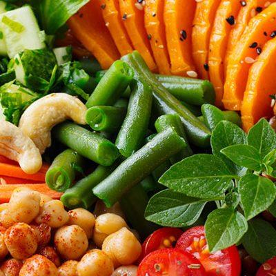 insalata autunnale con ceci e lenticchie