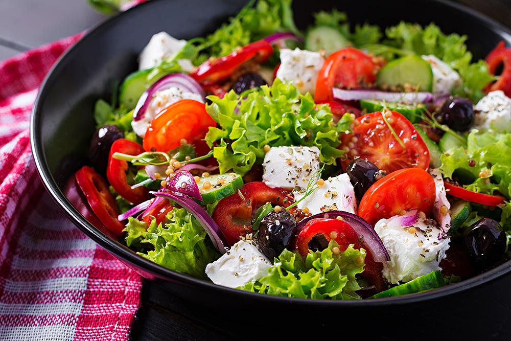insalata greca con feta