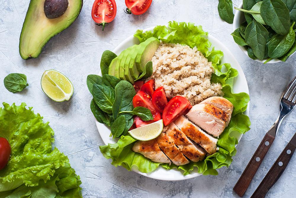 insalata light con pollo