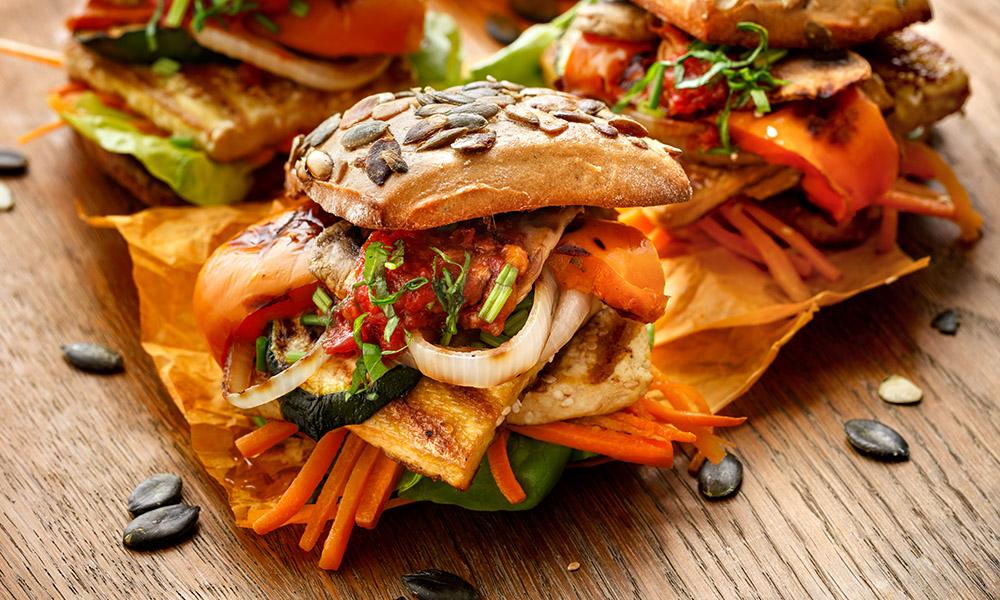 hamburger tofu e verdure